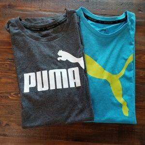 Two Puma Active Wear Shirts